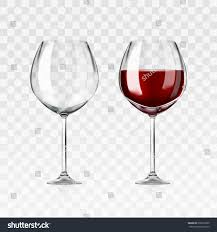 vector realistic full empty glasses red stock vector 632612690