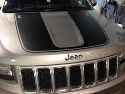 jeep cherokee sticker 2013 jeep grand cherokee hood decal installed team nutz technology