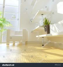 3d rendering modern study room stock illustration 55089454