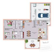 plan de maison plain pied 4 chambres avec garage plan maison plain pied 120m2 4 chambres avec dernier intérieur