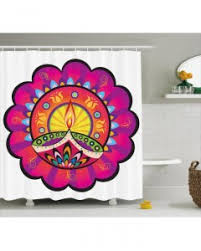 Oriental Shower Curtains Paisley Shower Curtain Oriental Damask Decor Print For Bathroom