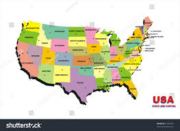 Unites States Map by Color Map United States America On Stock Illustration 67753627