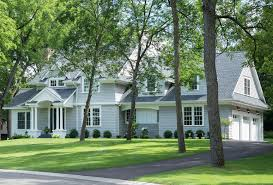 grey shingle home with cheerful coastal interiors home bunch