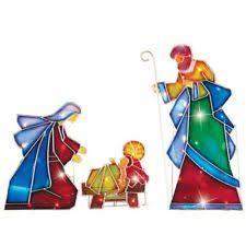 Outdoor Nativity Lighted - outdoor nativity set nativity items ebay