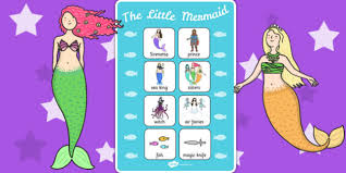 mermaid vocabulary poster story book reading