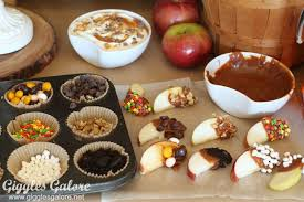 toppings bar fall party candy apple bar