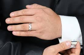 mens palladium wedding rings diamond set wedding ring for men in palladium with a