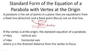 parabolas with vertex at the origin calculus ck 12