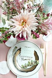 Pink And Gold Table Setting by Littlebigbell Styling With Pink And Gold Archives