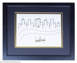 trump u0027s sketch of new york city skyline up for auction daily