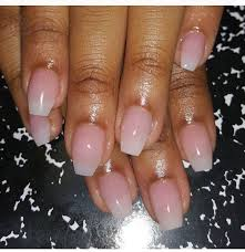 french ombré acrylic short coffin nails perfect for 2016 spring