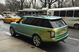 i spotted this range rover with color changing paint autotrader