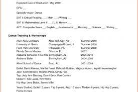 Dance Resume Examples by Professional Dancer Resume Sample Reentrycorps