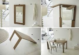 Space Saving Folding Table Design Ideas For Functional Small Rooms - Furniture interior design ideas