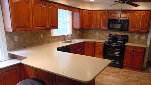 Refinish Corian Countertop Cherry Raised Panel Doors And Corian Countertops