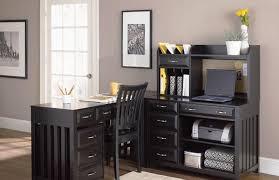 L Shaped Desk For Home Office Wood Black L Shaped Desk Desk In Handy U2013 Ashley With Regard To