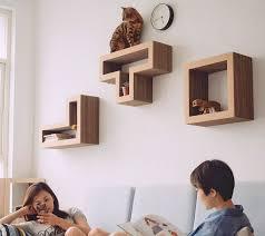 Wall Shelves For Cats Katris Modular Cat Shelves Are Tetris Blocks For Your Furry Friends
