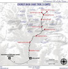 Map Of Everest Everest Base Camp Trek Everest Trekking Core Trek