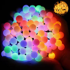 ball fairy lights omgai 17ft 60 led waterproof color changing