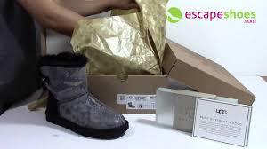 womens ugg boots mini bailey bow ugg australia mini bailey bow snake black 1005534 blk