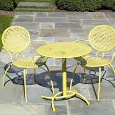 Yellow Bistro Chairs Black End Tables Walmart Canada Patio Bistro Set Clearance Wrought