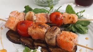 Mediterranean Style Food - mediterranean style grilled salmon kabobs recipe que rica vida
