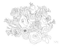 black and white pictures of flowers to draw free download clip