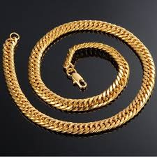 luxury gold necklace images 7seas boys mens chain gold color jewelry womens curb cuban link jpg