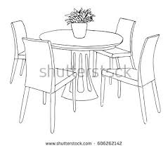 home design cute dining table drawing how to draw a with chairs