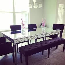 Mirrored Dining Room Furniture Wonderfull Design Mirrored Dining Table Extremely