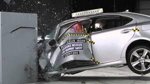 lexus sedan small crash test iihs 2012 lexus is 250 350 small overlap test