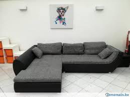 canapé gris simili cuir canapé d angle tissu similicuir noir et gris a vendre 2ememain be