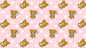 pink polka dot rilakkuma cute kawaii resources