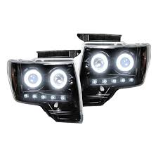 Ford Raptor Headlights - recon 264190bkcc ford f150 raptor 09 14 clear smoked headlights
