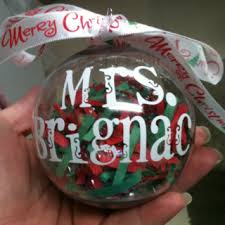 teacher gift christmas ornament fill with chocolate and