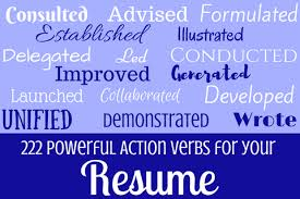 Powerful Action Verbs For A by What Action Verbs Should You Use On Your Resume U2013 Bentley Careeredge