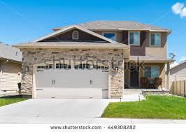 split level garage contemporary splitlevel house garage front stock photo 449308282