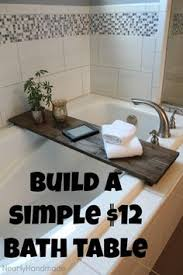 bathroom caddy ideas diy netflix chill bath caddy limestone