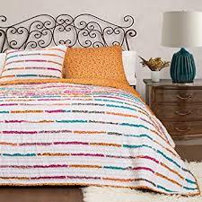 Tangerine Home Decor Amazon Com Lush Decor 3 Piece Umbria Quilt Set Full Queen