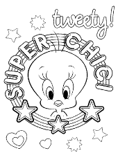 yellow canary tweety sylvester free coloring pages children