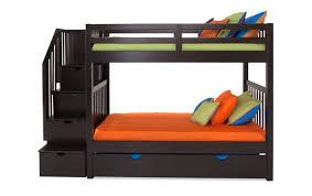 Bunk Beds Storage Keystone Stairway Bunk Bed With Storage Trundle Unit Bob S