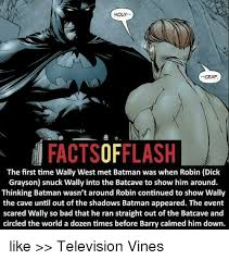 holy crap factsofflash the first time wally west met batman was