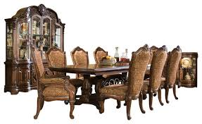 8 piece windsor court rectangular dining table set with china