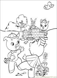 free printable coloring pages 3 pigs pig fun