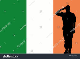 Ireland Flag Ireland Flag Silhouette Soldier Saluting Stock Vector 113470408