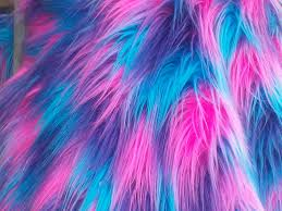 pink lavender turquoise blue yellow tinsel fake faux fur blanket