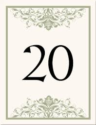 free table number templates celtic wedding table numbers irish wedding products scottish wedding