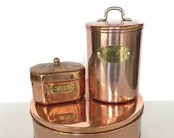 copper canister etsy