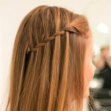 How To Make Hairstyles For Girls by Easy Waterfall Braid Tutorial Popsugar Beauty