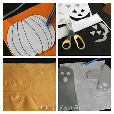 felt jack o lantern pumpkin and ghost faces making life blissful